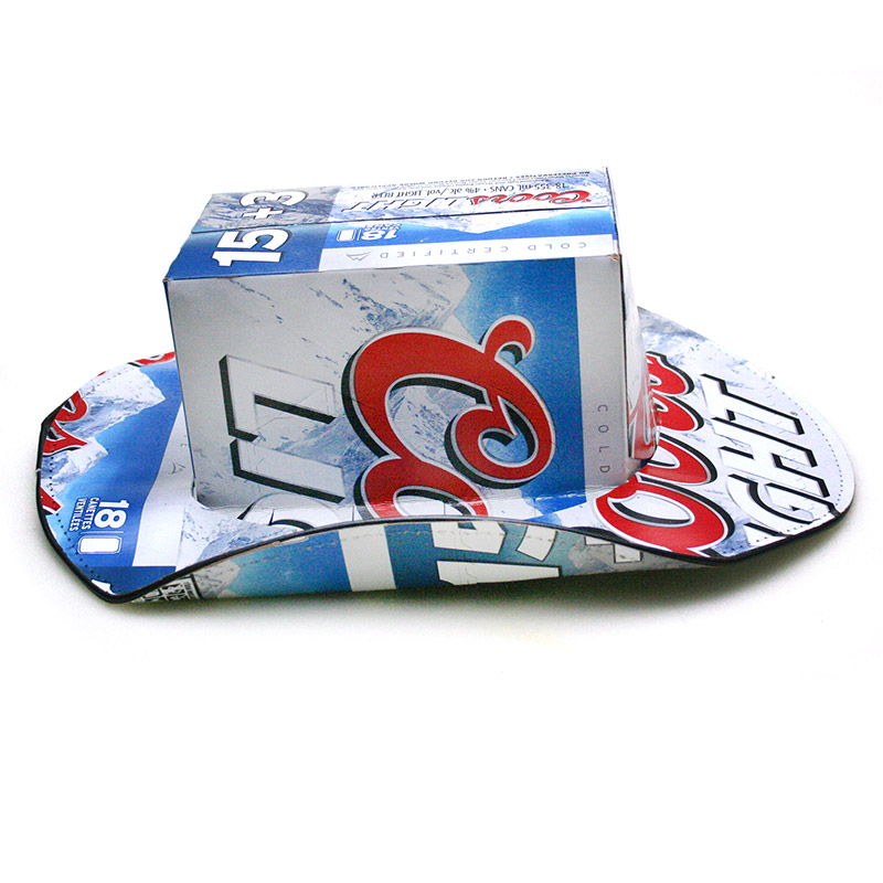 268865a6ae24e Coors Light Beer Box Cowboy Hat - FREE SHIPPING