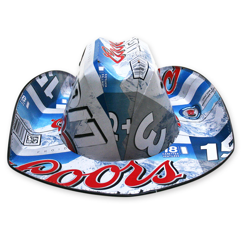 d657482c51411 Coors Light Traditional Beer Box Cowboy Hat - FREE SHIPPING