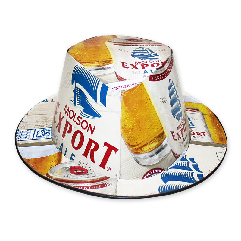 beer box hat instructions