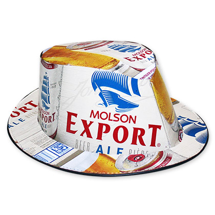 Molson Export Ale Beer Box Fedora Hat - FREE SHIPPING