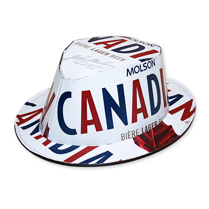 Molson Canadian Beer Box Fedora Hat - FREE SHIPPING