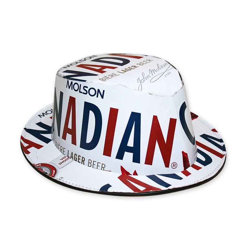 Molson Canadian Beer Box Fedora Hat - FREE SHIPPING df8d5f05c1b4
