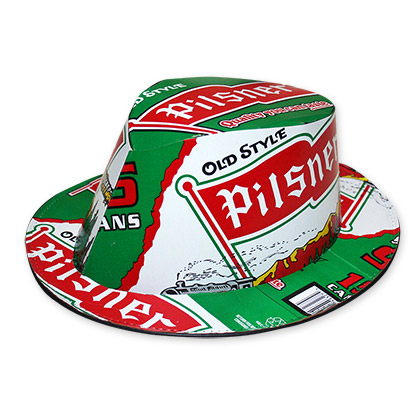 Old Style Pilsner Beer Box Fedora Hat - FREE SHIPPING