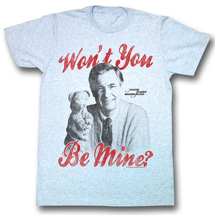 Mister Rogers Be Mine T-Shirt