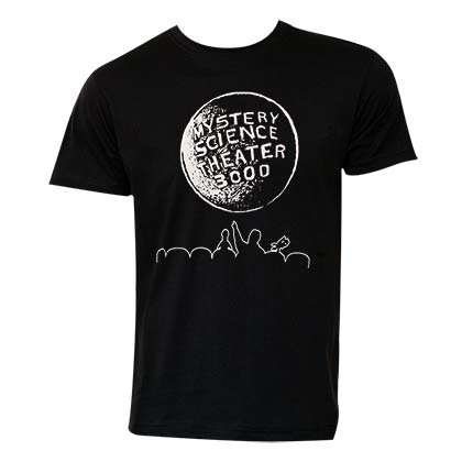 Mystery Science Theater 3000 Men's Black Moon Logo T-Shirt