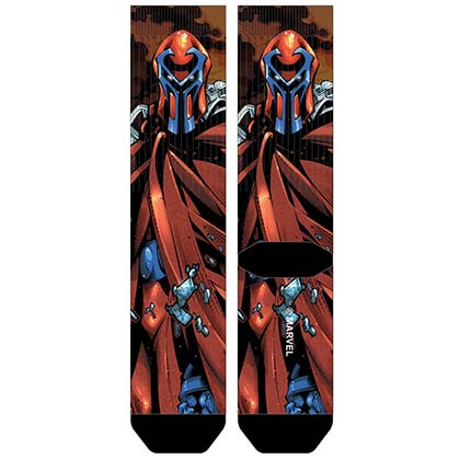 X-Men Men's Sublimated Magneto Crew Socks