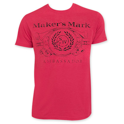 Maker's Mark Men's Red Ambassador Tee Shirt