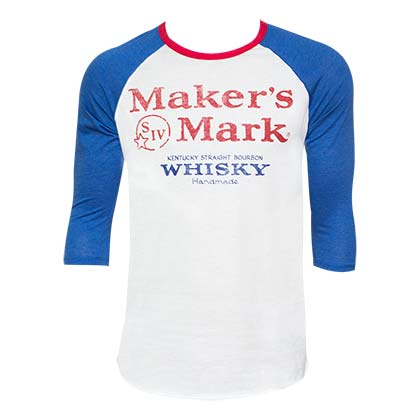 Men's Maker's Mark Blue Baseball Tee Shirt