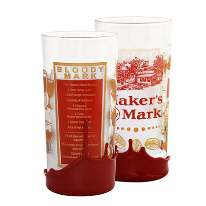 Maker's Mark Bloody Mary Recipe Wax Dipped High Ball Glass