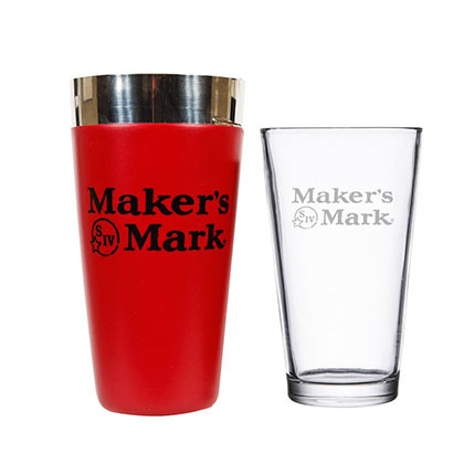 Maker's Mark Boston Cocktail Shaker Glass Set