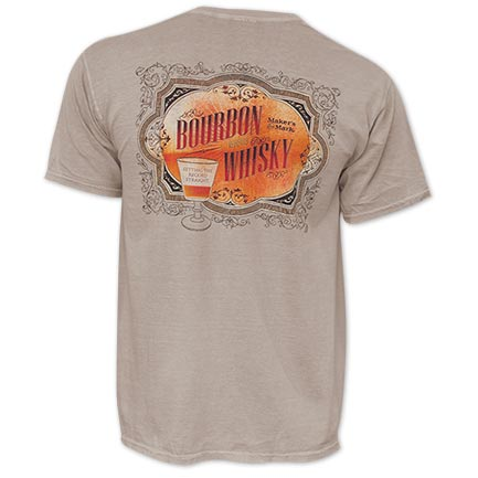 Maker's Mark Men's Brown Whiskey Versus Bourbon T-Shirt