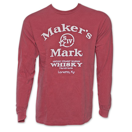 Maker's Mark Whiskey Red Long Sleeve Shirt