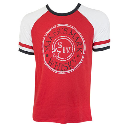 Maker's Mark Men's Red Stamp Logo Jersey T-Shirt