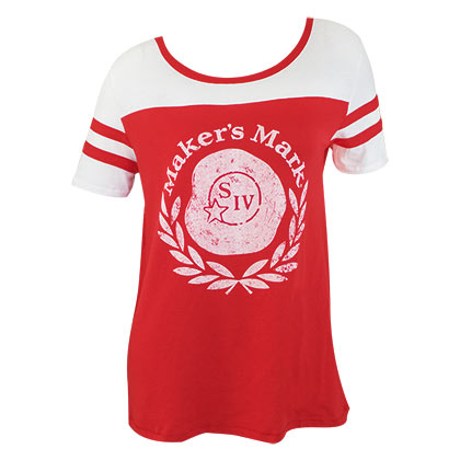 Maker's Mark Women's Red Vintage Logo Jersey T-Shirt