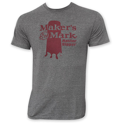 Maker's Mark Men's Gray Master Dipper Tee Shirt