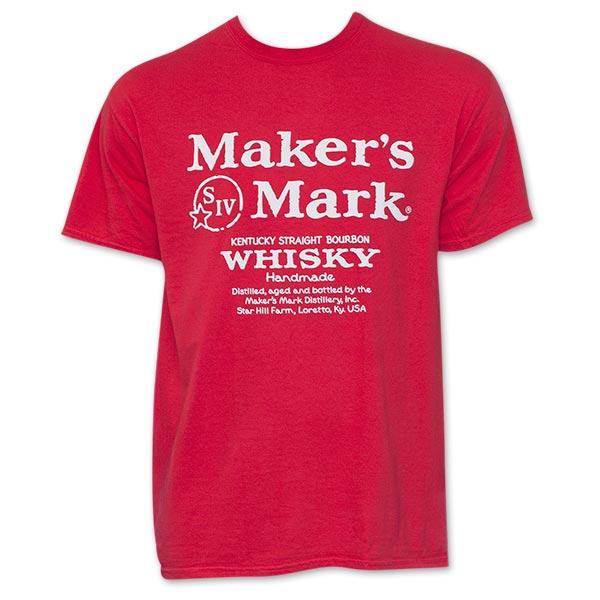 Makers Mark Red Whiskey Logo T Shirt