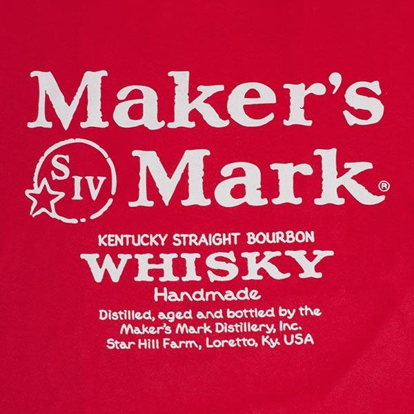 Maker's Mark Men's Kentucky Bourbon Whiskey Logo Tee Shirt