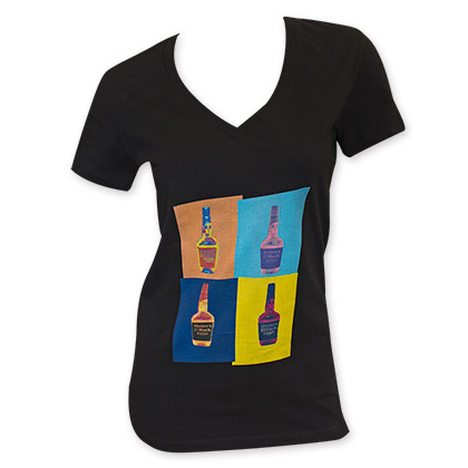 Maker's Mark Women's Black Pop Art Tee Shirt