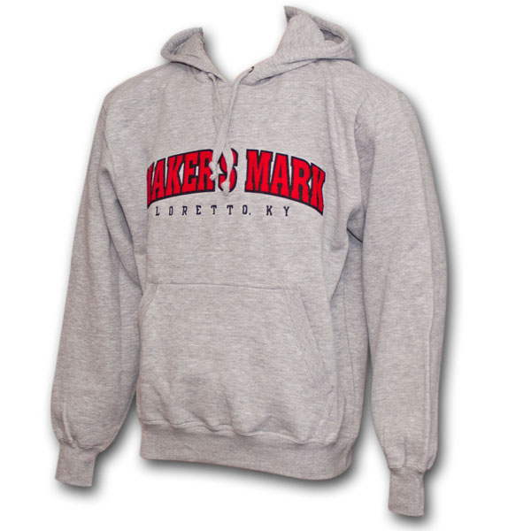 Makers Mark Logo Athletic Heather Gray Hoodie Sweatshirt