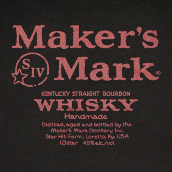 Maker's Mark Whisky Red & Black Label Shirt