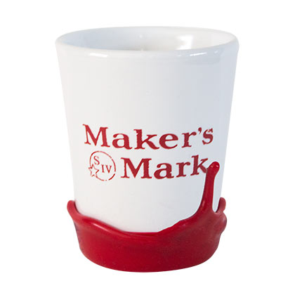 Maker's Mark White Wax Dipped Shot Glass