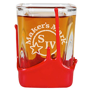 Maker's Mark Whiskey Square Shot Glass With Wax Seal