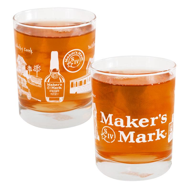 Maker's Mark S IV Wrapped Rocks Glass