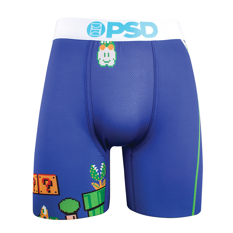 Super Mario Bros. Level Nintendo Blue Men's Boxer Briefs