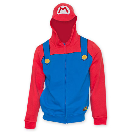 Nintendo Super Mario Brothers Red Mario Costume Sweatshirt