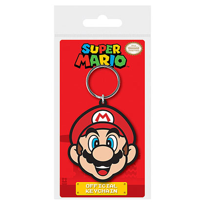Super Mario Bros Face Rubber Keychain
