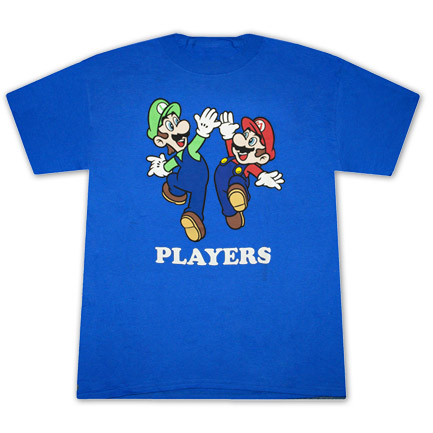 Mario and Luigi Players T Shirt - Blue