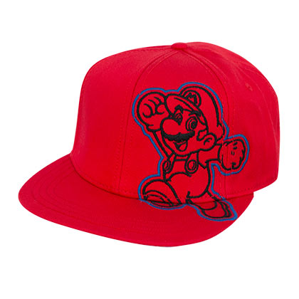 Super Mario Flat Bill Red Hat