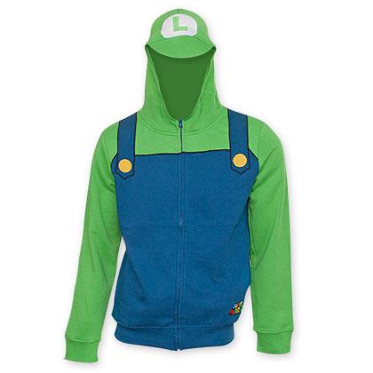 Nintendo Super Mario Brothers Green Luigi Costume Sweatshirt