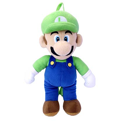 Super Mario Bros. Plush Luigi Backpack