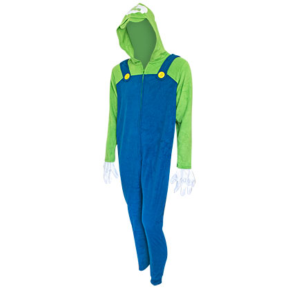 Super Mario Bros. Luigi Men's Union Pajamas Suit