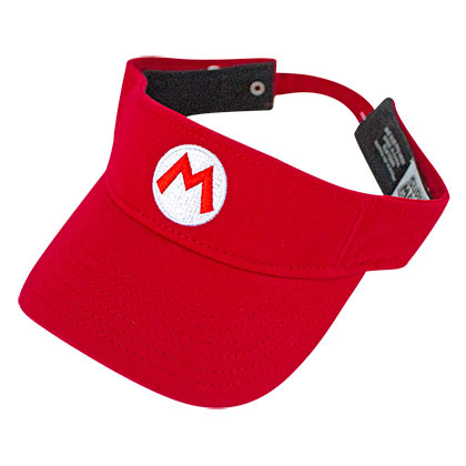 Super Mario Bros. Red Mario Logo Visor