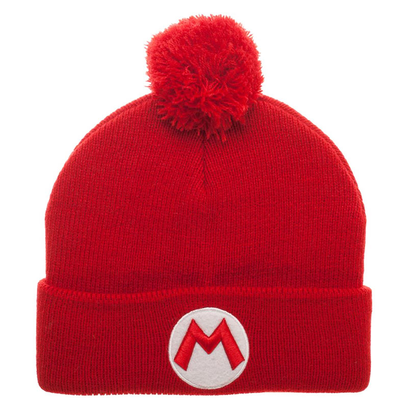 bb573dc000d21 item was added to your cart. Item. Price. Nintendo Super Mario Bros. Logo Red  Winter Pom Beanie
