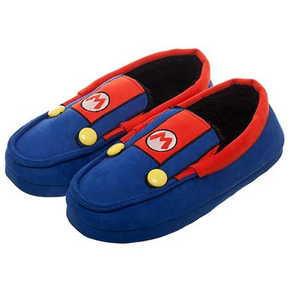 Super Mario Bros. Suit Up Unisex Moccasins Slippers
