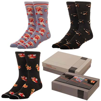 Nintendo Super Mario Bros. 3 Pack Gift Sock Set