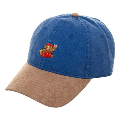 Mario Blue Suede Bill Hat