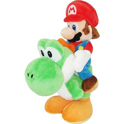 Super Mario Bros. Riding Yoshi 8in Plush Toy