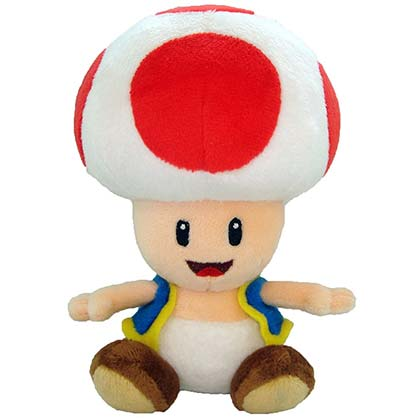 Super Mario Bros. Toad 7in Plush Doll Toy