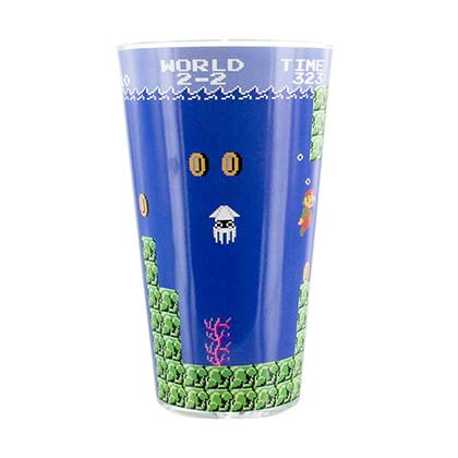Super Mario Bros. Water Level Drinking Glass