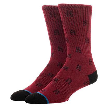 Super Mario Bros. Water Print Men's Red Crew Socks