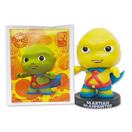 Martian Manhunter Toy and Sticker