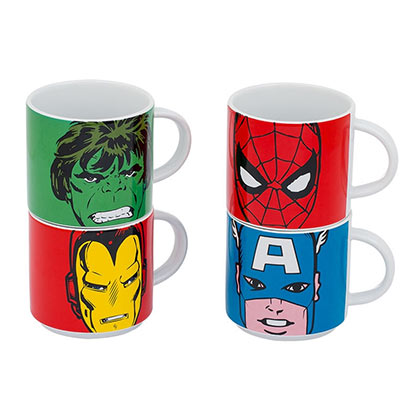 Marvel Comics 4-Piece Mug Set