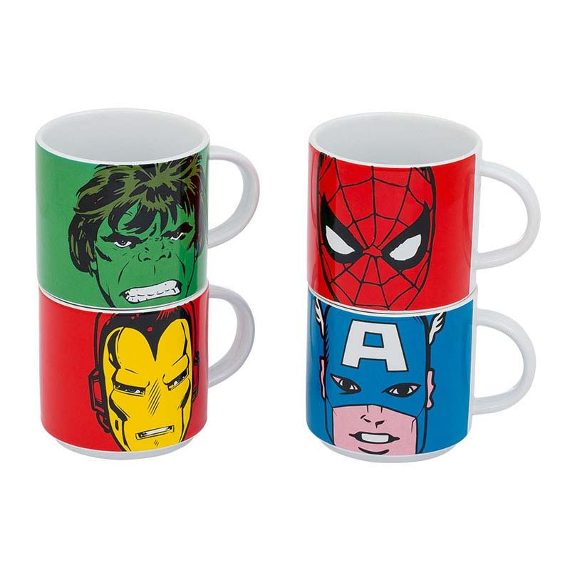 Marvel Comics 4-Piece Mug Set