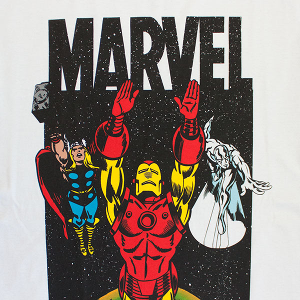 Marvel Galaxy Team Men's White Tee Shirt