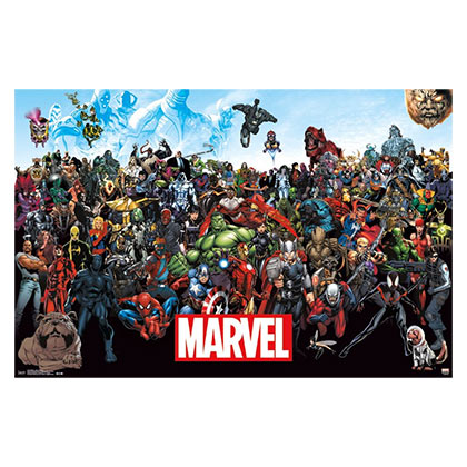 Marvel Heroes Lineup 23 x 34 Poster