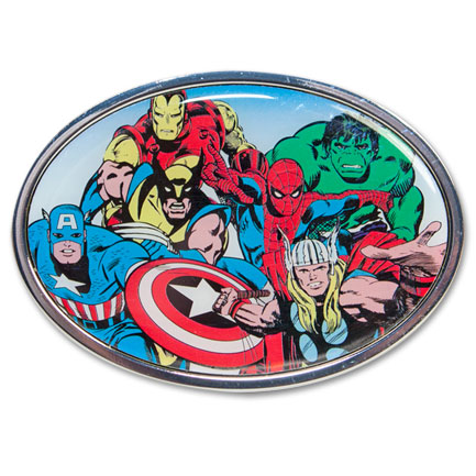 Marvel Characters Gang Belt Buckle